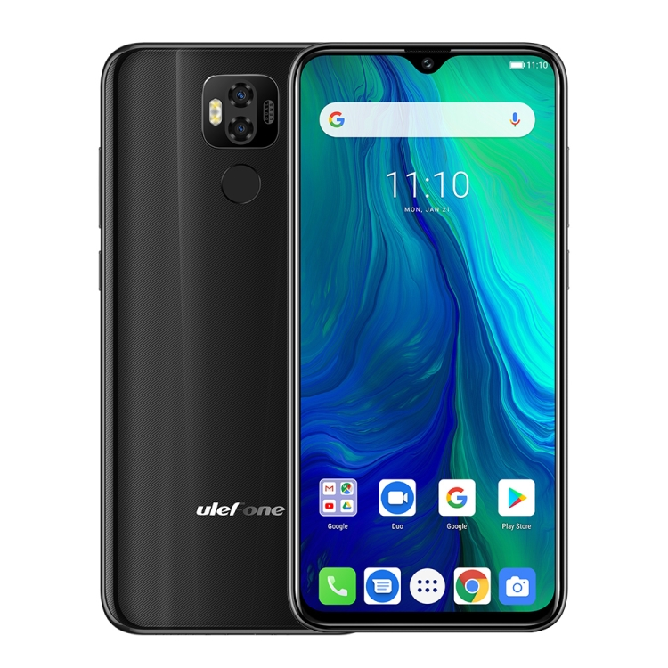 Ulefone Power 6 fekete front 1