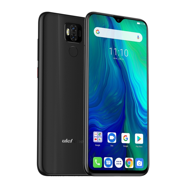 Ulefone Power 6 fekete front 2
