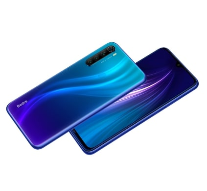 Redmi Note 8 gradiens kék